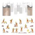 Illustration for construction site