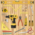 Illustration construction tools diy, flat design