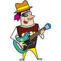 Illustration of cool cartoon artiste Royalty Free Stock Images