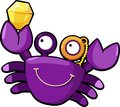 Illustration crab vector Royalty Free Stock Photos