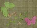 Illustration. Cross stitch. Butterflies