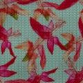 Illustration. Cross-stitch. Schlumbergera, Christmas Cactus. Sea Royalty Free Stock Photo
