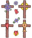 Illustration of crosses Stock Images