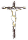 Illustration crucifixion jesus thieves Royalty Free Stock Photo