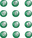 Illustration of currency and others signs. Stock Photography