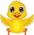 Illustration of cute baby chicken cartoon Royalty Free Stock Image