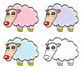 Illustration cute baby sheep Royalty Free Stock Images