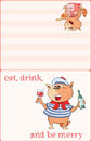 Illustration of a Cute Cat Sailor. Postcard. Cute Cat Sailor. Proverb