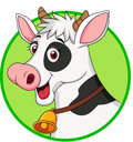 Illustration cute cow head cartoon Stock Photos