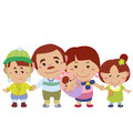 Illustration cute family white vector Royalty Free Stock Images