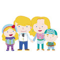 Illustration cute family white vector Royalty Free Stock Image