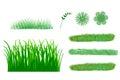 Illustration of cute grass set