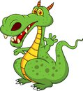 Illustration cute green dragon cartoon Royalty Free Stock Photos
