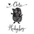 Illustration of cute hedgehog. Royalty Free Stock Photo