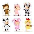 Illustration Of Cute Kids Wear...