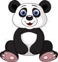 Illustration cute panda cartoon Royalty Free Stock Photography