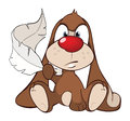 Illustration of a Cute Rabbit. Cartoon Character