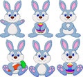 Illustration cute rabbit cartoon set Royalty Free Stock Photos