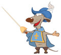 Illustration of a Cute rat . King's Musketeer. Cartoon Character
