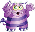 Illustration cute scary purple monster halloween Stock Image