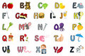 Illustration d'alphabet Photo libre de droits