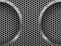 Illustration of dark hexagon metal grill
