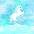 Illustration de belle licorne. Photos libres de droits