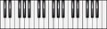 Illustration de clavier de piano octave Image libre de droits
