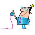 Illustration de dessin animé d'ouvrier Images stock