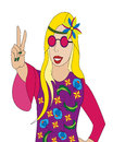 Illustration de fille de Hippie Photographie stock