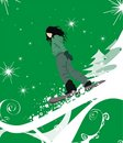 Illustration de fille de snowboarding Photographie stock libre de droits