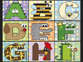 Illustration de l alphabet animal actions Image libre de droits