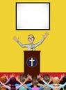 Illustration de membres de pastor praying worshiping god church Images libres de droits