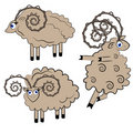 Illustration de moutons de danse. positionnement d'animal. Images stock