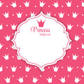 Illustration de princesse crown background vector Image stock