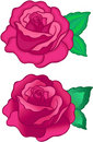 Illustration de vecteur de roses Photos stock