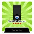 Illustration for dedicated web hosting services