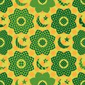 Ramadan element cut flower circle seamless pattern Royalty Free Stock Photo
