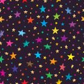 Star 3d 2d seamless pattern