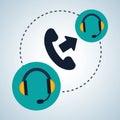 Illustration design of call center, editable vector