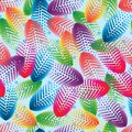 Circle halftone flower petal leaf colorful seamless pattern
