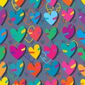 Love match two color seamless pattern