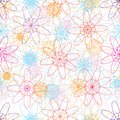 Flower mandala line ray colorful seamless pattern