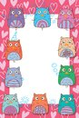 Owl hand wing celebration love frame