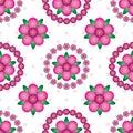 Flower gradient mandala symmetry seamless pattern