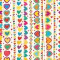 Love hand draw vertical line seamless pattern