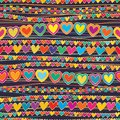 Love horizontal connect line style seamless pattern