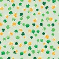 Shamrock leaf love gold glitter green seamless pattern Royalty Free Stock Photo