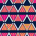 Triangle pattern cut style group M W V seamless pattern