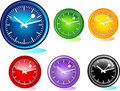 Illustration of different clocks Stock Photography